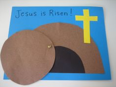 Easy empty tomb Easter craft (paper).. maybe we could incorporate this onto the 3 crosses at Golgotha craft?