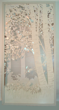 Image result for silver birch paper cut out