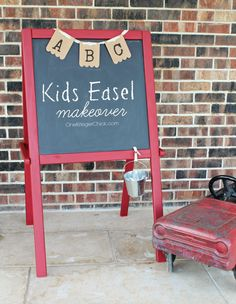 Kids Easel Makeover