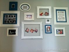 Ideas For Hanging Pictures On Wall Without Frames creative ways to hang pictures without frames | creative ideas