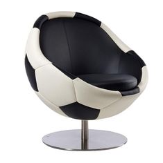 Sit back and relax in this Leather Soccer Ball Chair. Watch your favorite sport while showing it off in your own room. This comfortable chair will be wanted by every passionate soccer fan. Soccer Boys, Play Soccer, Football Soccer, Soccer Stuff, Boys Soccer Bedroom, Soccer Themed Bedrooms, Gamer Bedroom, Soccer Art, Soccer Poster