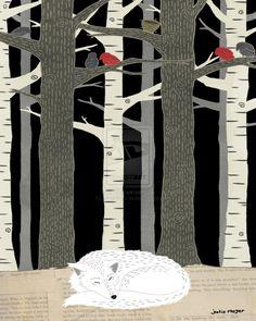 Sleeping Wolf by juliegnome.deviantart.com on @deviantART
