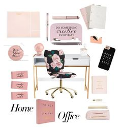 """Office... At home"" by lillialessandra on Polyvore featuring interior, interiors, interior design, home, home decor, interior decorating, PBteen, Kate Spade, StudioSarah and Montegrappa"