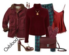 """""""Oxblood"""" by winscotthk ❤ liked on Polyvore featuring BC Footwear, 360 Sweater, The Cambridge Satchel Company, Anastazio, Égotique, Twin-Set and John Lewis"""