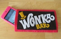 A Wonka Bar iTouch cozy made from felt. I don't have an iTouch, but I still want this so badly!