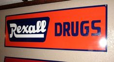 Painted REXALL DRUGS (NOT) Porcelain METAL SIGN GAS OIL GENERAL STORE Pharmacy  #rexall