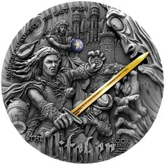2019 Niue 2 Ounce Witcher The Last Wish High Relief Gold Gilded Antique Finish Silver Coin The Witcher Book Series, The Witcher Books, Tv Series, Cd Project Red, The Last Wish, The Razors Edge, Mythical Dragons, Fortune Favors The Bold, Proof Coins