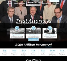 Website Redesign for Personal Injury Law Firm Personal Injury Law Firm, Trials, Helping People, Website, Blog, Blogging