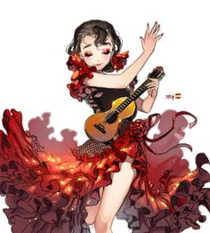 Flamenco by kawacy. #Anime #Manga #AnimeGirl #Art #gosstudio .★ We recommend Gift Shop: http://www.zazzle.com/vintagestylestudio ★