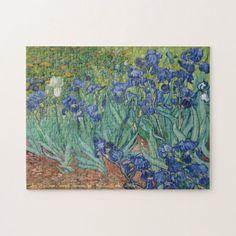 Irises Flowers Vincent van Gogh Painting Art Kids Jigsaw Puzzle #jigsaw #puzzle #jigsawpuzzle Vincent Van Gogh, Canvas Artwork, Canvas Prints, Jigsaw Puzzles For Kids, Irises, Gladioli, Van Gogh Paintings, Iris Flowers, Flower Plants