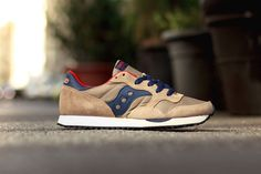 Saucony 2014 Fall DXN Trainer Tan/ Navy