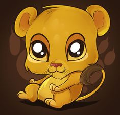 Cute Cartoon Animals with Big Eyes | Cute Lion Tutorial by Dragoart