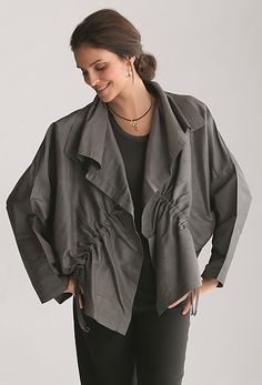 Dupioni Drawstring Jacket: Planet Clothing: Silk Jacket | Artful Home