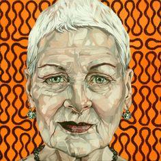 "Saatchi Art Artist Jo Beer; Painting, ""Vivienne Westwood"" #art"