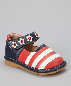 Another great find on #zulily! Pippytoes Red & Blue Betsy Mary Jane by Pippytoes #zulilyfinds