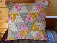 pretty triangle pillow
