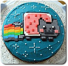 MiNas Food Adventures: Nyan Cat Birthday Cake