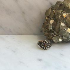 Venus star set set with black diamonds #ZMX #ZoeAndMorgan #finejewelry