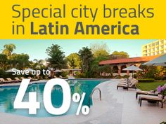 Our City hotels in Latin America | Choose your Barceló city hotel and get up to 40% off. Relax and enjoy destinations such as Panamá, Santo Domingo, Guatemala, San José in Costa Rica, Managua or Puebla.