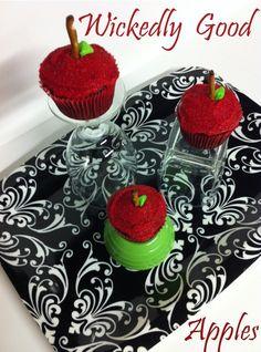 Snow White's poison apple cupcakes