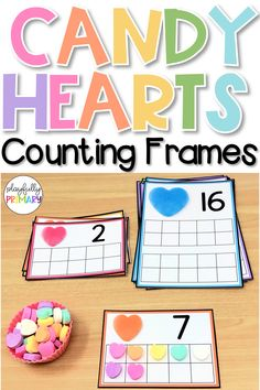 valentines day preschool Valentines Day printable for preschool and kindergarten. Ten frames can be used with conversation hearts, mini erasers, and other math manipulatives. Valentine Theme, Valentines Day Activities, Valentines Day Hearts, Holiday Activities, Valentine Day Crafts, Valentine Nails, Holiday Themes, Valentine Ideas, Kindergarten Activities