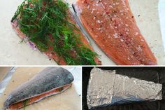 Gravlax – Salt Cured Salmon Perfect for a make-ahead dish. Other fish like snapper, bass, and arctic char can be used. Serve with lemon wedg...