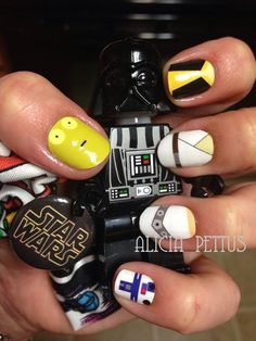 Star Wars Nails. Nail Art Studio. Jamberry Nail Wraps. Custom Made by adornbyali@hotmail.com Easy DIY Nail Art Manicure Jamicure