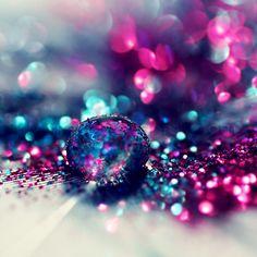 water & glitter