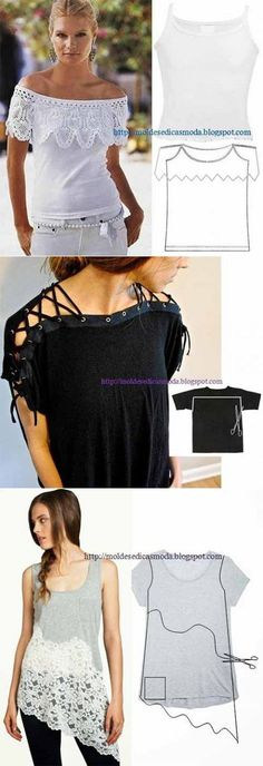 DIY Fashion Ideas – What you Need to be Creative – Designer Fashion Tips Shirt Refashion, T Shirt Diy, Umgestaltete Shirts, Abaya Mode, Diy Kleidung, Altering Clothes, Diy Fashion, Fashion Tips, How To Make Clothes