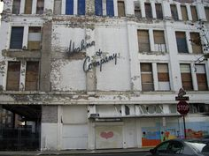 Broad Street and Halsey Street in downtown Newark, New Jersey Hahnes abandoned
