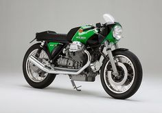 Kaffeemaschine (pronounced, erm… 'Kaffeemaschine') is a Hamburg-based shop that specialises in some of the most beautiful, understated Moto Guzzi builds we've seen. All their bikes are lean, st...