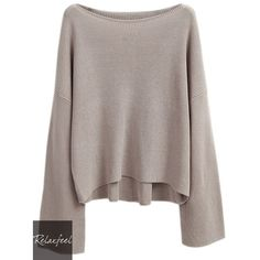 Relaxfeel Women's Sabrina Trumpet Sleeve Pullover Long Sleeve Knitwear (£26) ❤ liked on Polyvore featuring tops, sweaters, brown pullover sweater, knitwear sweater, long sleeve pullover, pullover sweater and long sleeve sweaters