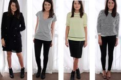 The Capsule Wardrobe - 10 pieces, lots of choices for day/work/evening ensembles!