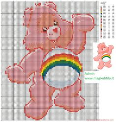 Cheer Bear cross stitch pattern