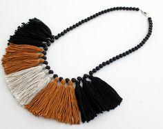 Madi Jane Tassel Necklace, Tassel Necklace, Statement Necklace, Handmade Jewellery Handmade Jewelry, Necklace, Boho Necklace, Boho Jewellery