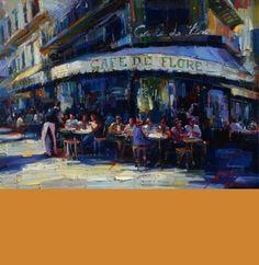"""""""Cafe de Flore"""" by Michael Flohr, EC Gallery - ArtWalk participant"""
