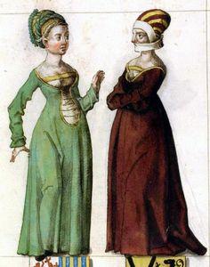 Book Illustration 16th century. Perhaps she was a gossip.