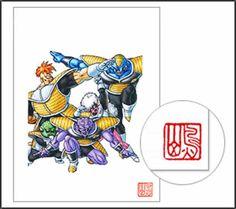 Dragon Ball Ginyu Force Tokusentai Duplicate Drawing Akira Toriyama Anime F/S
