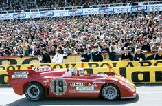 1972 LE MANS (1 MINUTE BEFORE THE START) - Alfa Romeo Tipo 33TT3. Entrant: Autodelta SpA. Car 19: Drivers: Rolf Stommelen / Giovanni Galli. Placed: DNF.