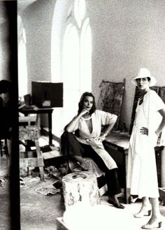 Donna Karan and Margaux Hemingway photographed by Deborah Turbeville for Vogue 1975