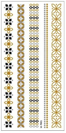 2016 New summer arabic indian designs body painting jewerly metallic gold silver black new henna flash tattoo tatuajes metalicos Border Embroidery Designs, Hand Embroidery Patterns, Silver Tattoo, Metal Tattoo, Ornaments Design, Gifts For Office, Tattoo Designs For Women, Textile Prints, Black Tattoos