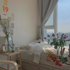 bedroom interior for apartment, light and calm space Dream Rooms, Dream Bedroom, Home Bedroom, Bedroom Decor, Bedrooms, Bedroom Inspo, My New Room, My Room, Dorm Room