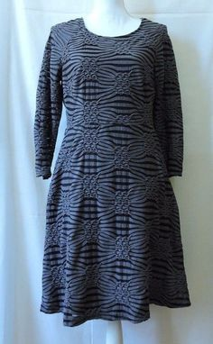 Eci New York Women Gray Black Dress Size 8 #ECI #Casual