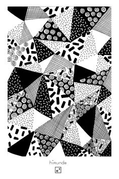 Black & White geometric pattern / Geometric pattern black and white / Original design by Elise Enjalbert – copyright 2105 rnrnSource by lizmachi Web Patterns, Graphic Patterns, White Patterns, Pattern Design, Print Design, Fruit Illustration, Geometric Flower, Black And White Design, Black White