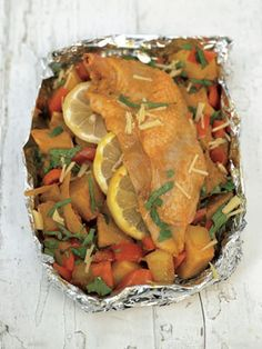 Make this recipe for one in a snug-fitting baking dish or to save on washing-up, a little tinfoil tray.
