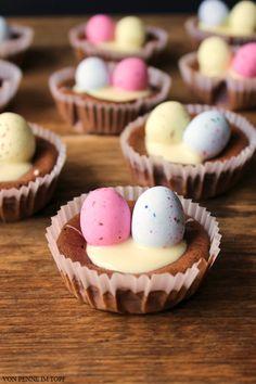 {Oster-Inspiration} Schoko - Käsekuchen - Muffins