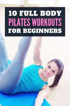 Pilates is a beginner-friendly type of workout that will improve your posture. It will also strengthen your core and improve your balance. Exercises can vary from easy to more challenging. Get ready to improve your strength and appearance with these easy pilates workouts for beginners. Pilates Workout, Fitness Workouts, Butt Workout, Fun Workouts, Fitness Tips, Cardio, Workout Routines For Beginners, Yoga For Beginners, Workout Videos