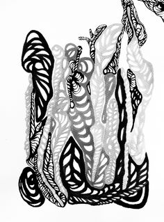 """""""Arachne 4"""" - polyptych by Irena Lisiewicz. Black & White & ... Collection: Mythology. Original abstract painting - contemporary art. Medium: acrylic and ink on paper. Dimensions: 12.6"""" H x 9.45 W"""" / 32cm H x 24cm W   #painting, #abstract, #blackandwhite, #paper, #mythology, #monochrome,  #fineart, #irenalisiewicz, #original, #artwork, #contemporaryart, #paintingforsale, #arachne,"""