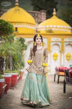 Items similar to Pakistani Indian Ethnic Bollywood Women Designer Salwar kameez Wedding outfit custom stitched gharara pants dress on Etsy Bridal Mehndi Dresses, Pakistani Wedding Outfits, Pakistani Bridal Dresses, Pakistani Wedding Dresses, Pakistani Dress Design, Bridal Outfits, Nikkah Dress, Pakistani Mehndi Dress, Wedding Hijab