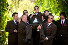 guys idea for brown, purple and orange wedding